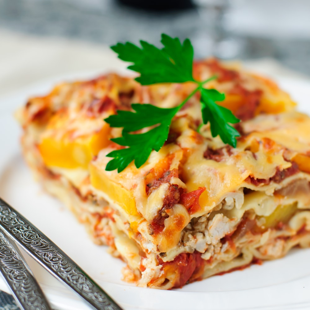 Chicken lasagna to pair with wine