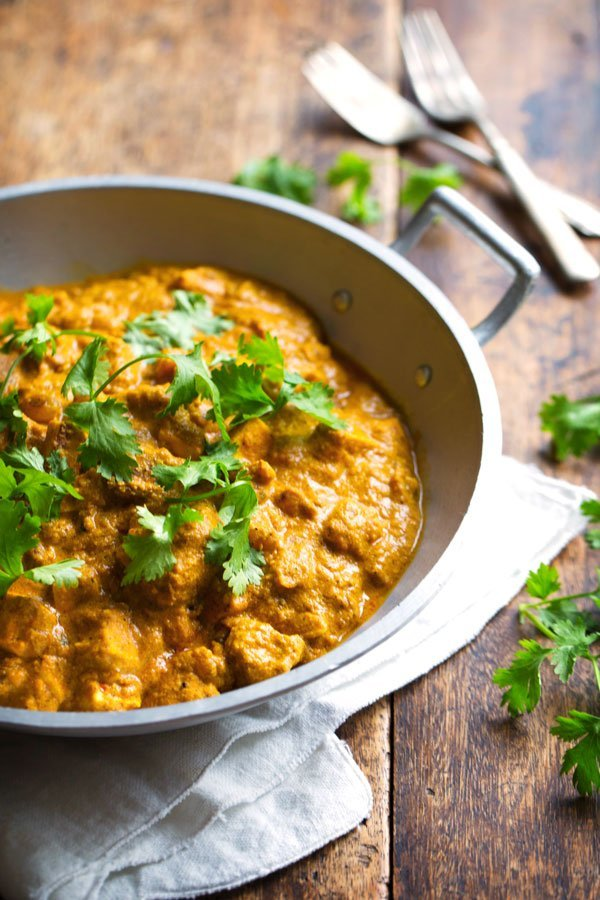 Chicken korma and Viognier pair best, food matching with Viognier