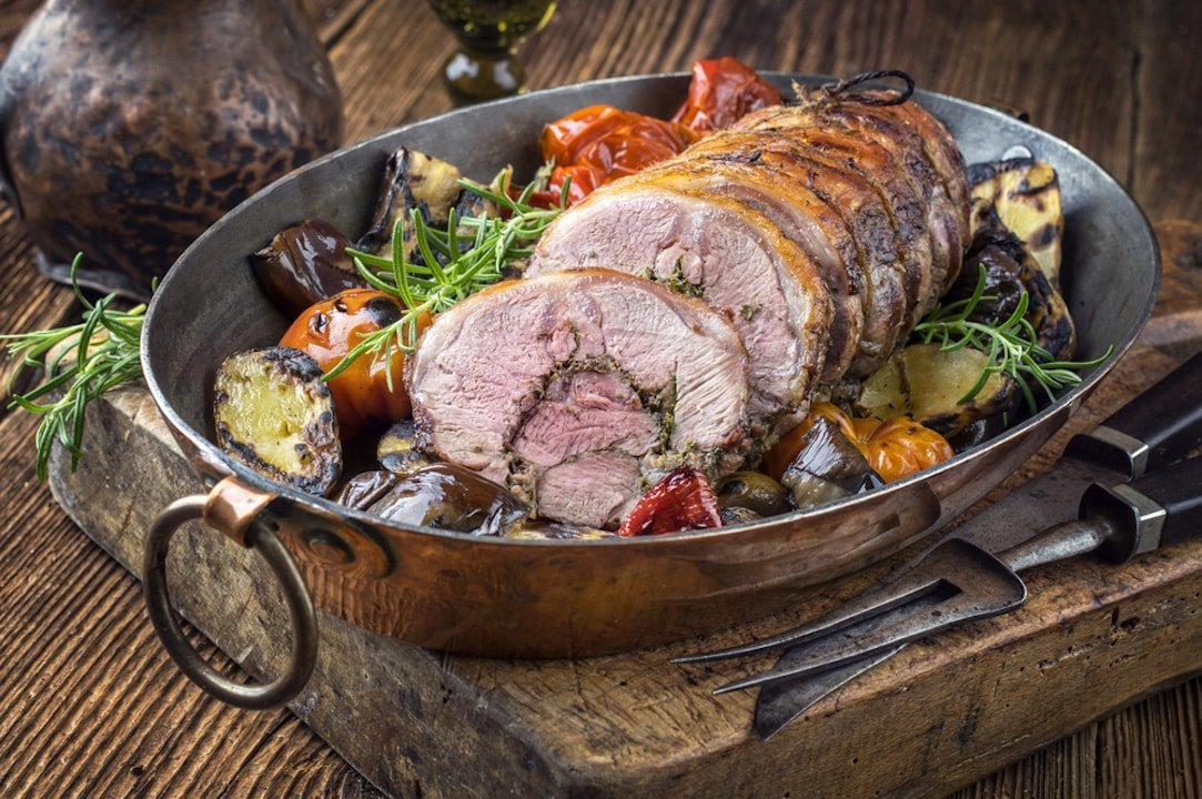 roasted lamb to pair with wine