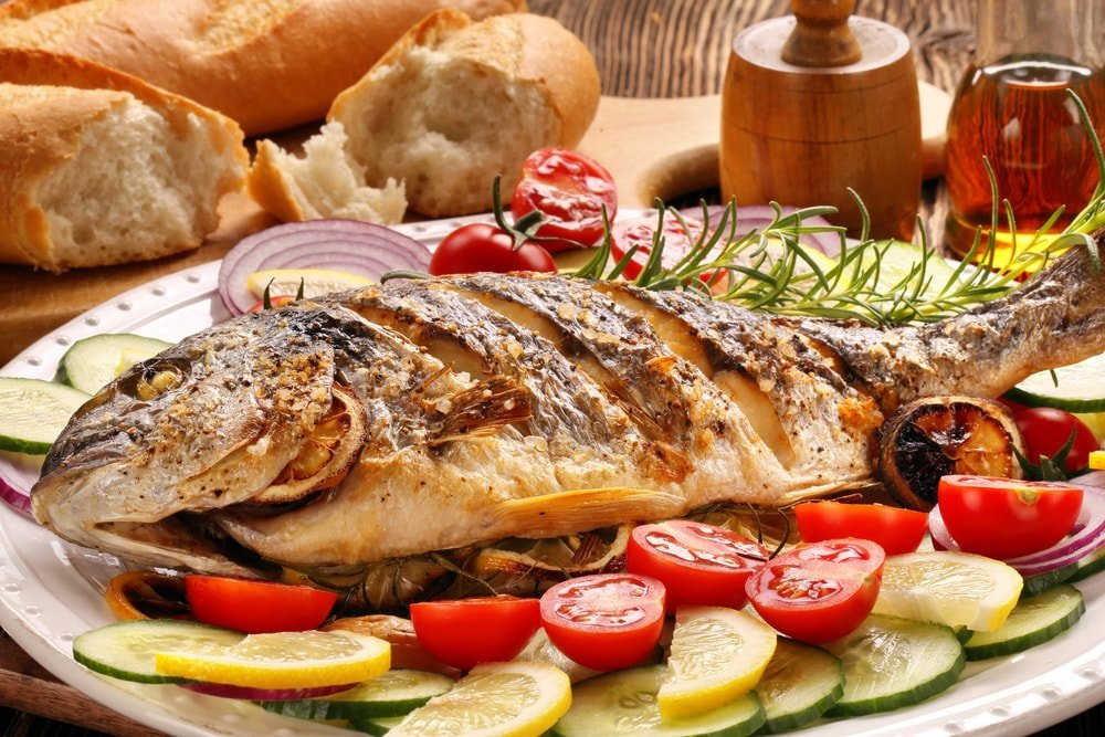 grilled fish with vermentino wine