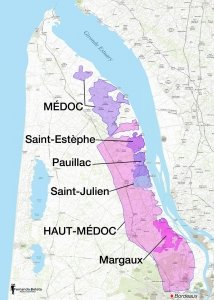 Saint Estephe wine region Medoc