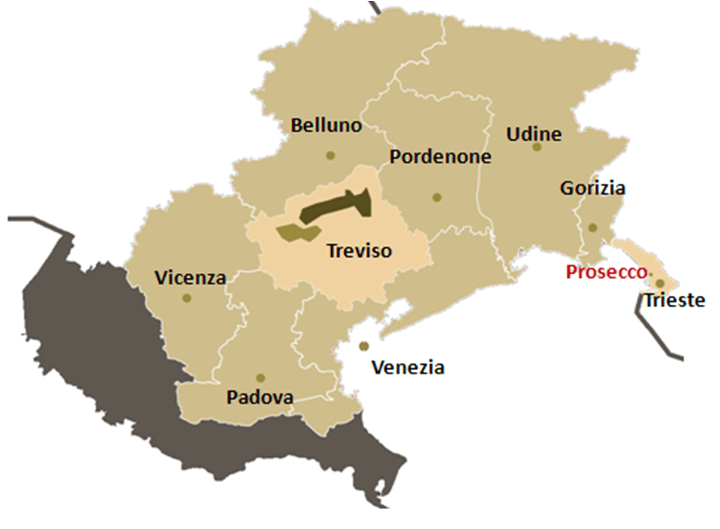prosecco wine map