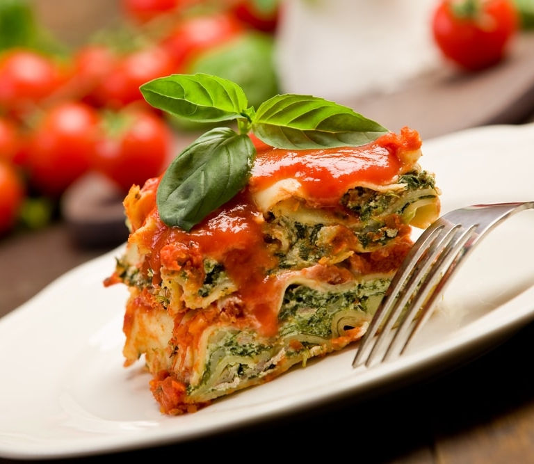 Vegetarian lasagna to pair with wine