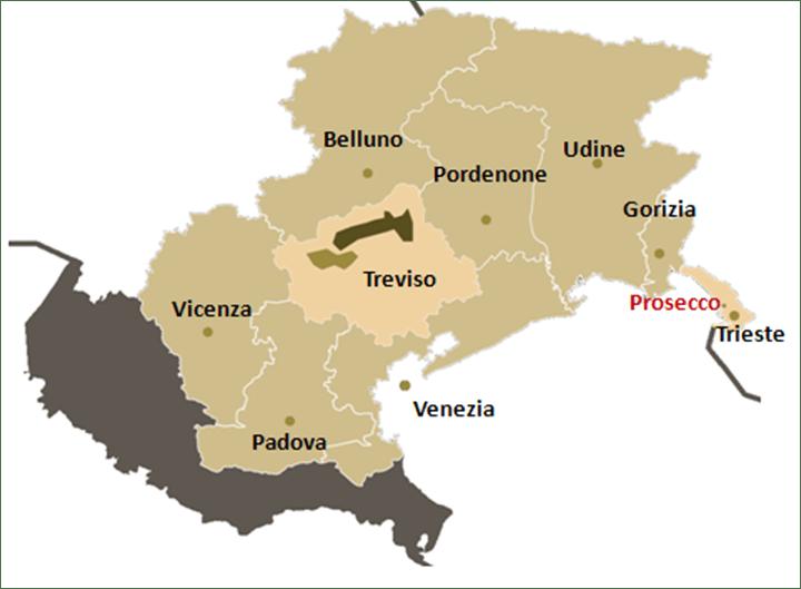 prosecco wine map